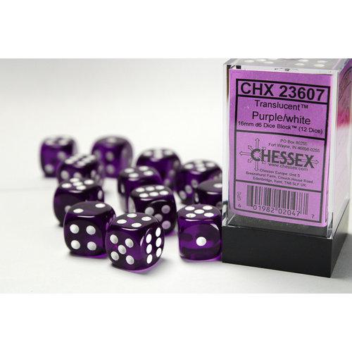 Chessex DICE SET 16mm TRANSLUCENT PURPLE