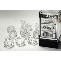 DICE SET 16mm TRANSLUCENT CLEAR