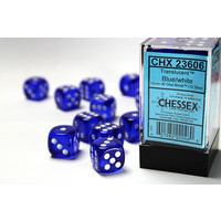 DICE SET 16mm TRANSLUCENT BLUE