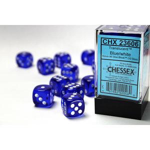 Chessex DICE SET 16mm TRANSLUCENT BLUE