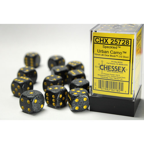 Chessex DICE SET 16mm SPECKLED URBAN CAMO