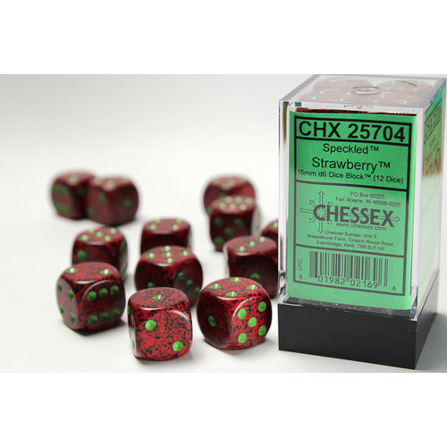 Chessex DICE SET 16mm SPECKLED STRAWBERRY