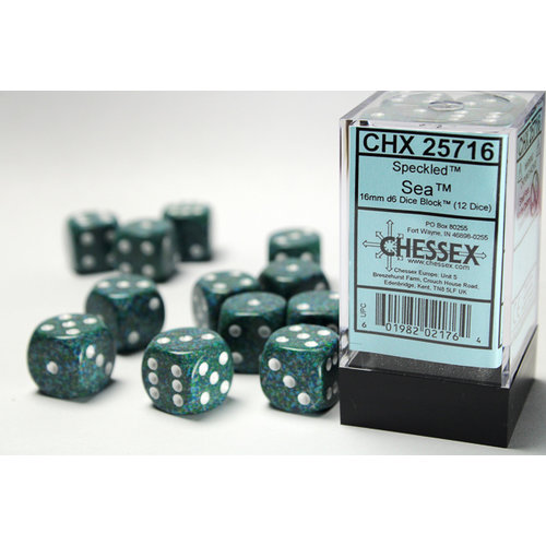 Chessex DICE SET 16mm SPECKLED SEA