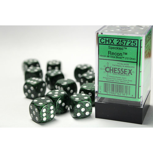 Chessex DICE SET 16mm SPECKLED RECON