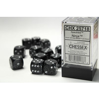 DICE SET 16mm SPECKLED NINJA