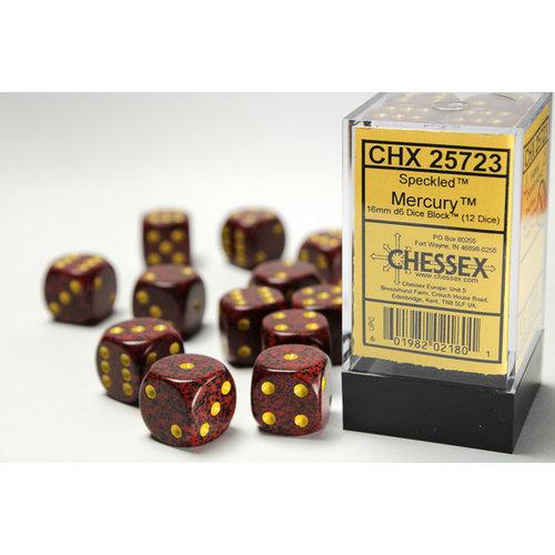 Chessex DICE SET 16mm SPECKLED MERCURY