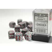DICE SET 16mm SPECKLED GRANITE