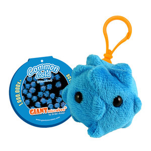 Giant Microbes COMMON COLD (RHINOVIRUS) KEY CHAIN