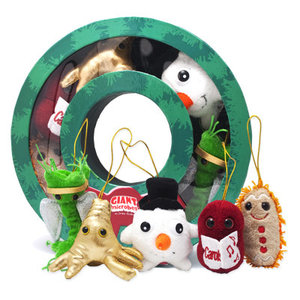 Giant Microbes CHRISTMAS WREATH MICROBE GIFT BOX