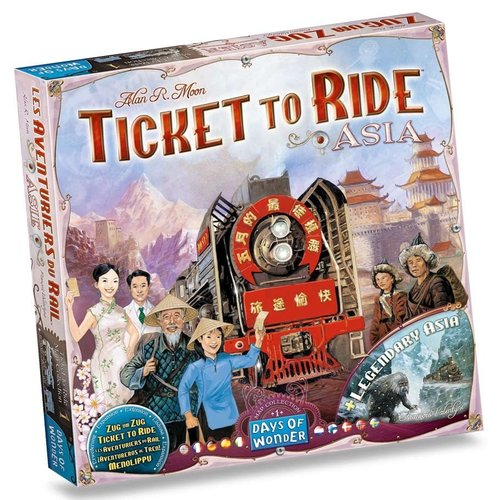 Days of Wonder TICKET TO RIDE: ASIA MAP COLLECTION 1