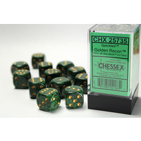 DICE SET 16mm SPECKLED GOLDEN RECON