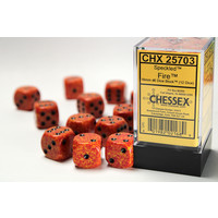 DICE SET 16mm: SPECKLED - FIRE