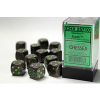 DICE SET 16mm SPECKLED EARTH