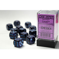 DICE SET 16mm SPECKLED COBALT