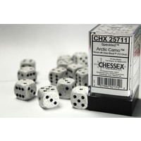 DICE SET 16mm SPECKLED ARTIC