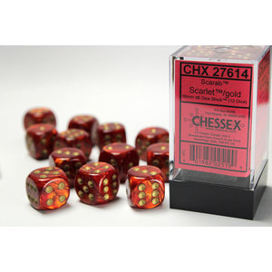 Chessex DICE SET 16mm SCARAB SCARLET