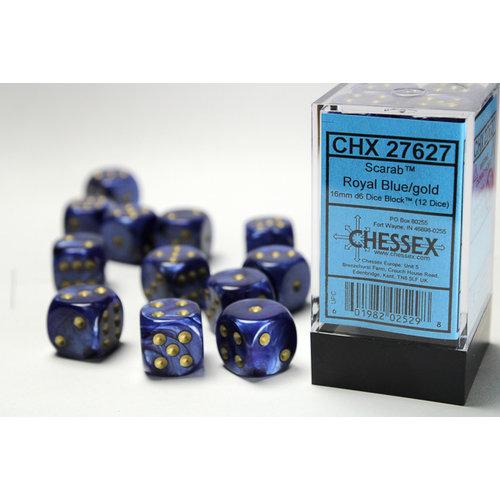 Chessex DICE SET 16mm SCARAB RYL BLUE