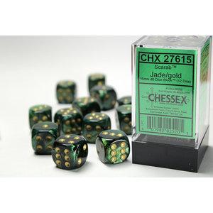 Chessex DICE SET 16mm SCARAB JADE