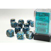 DICE SET 16mm PHANTOM TEAL