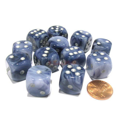 Chessex DICE SET 16mm PHANTOM BLACK