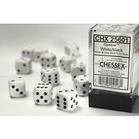 DICE SET 16mm OPAQUE WHITE