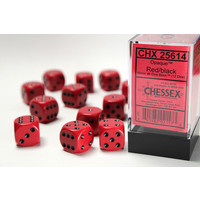 DICE SET 16mm OPAQUE RED-BLACK
