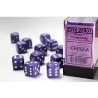 DICE SET 16mm OPAQUE PURPLE
