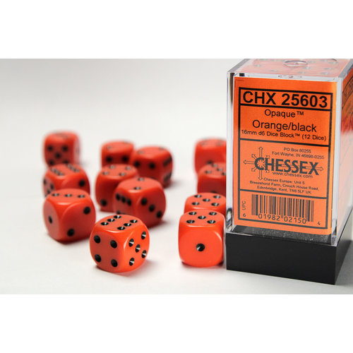 Chessex DICE SET 16mm OPAQUE ORANGE
