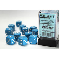 DICE SET 16mm OPAQUE LT BLUE