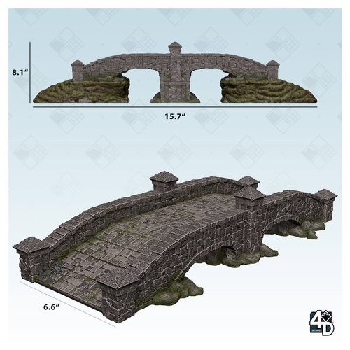 Wizkids MINIS: 4D SETTINGS: STONE BRIDGE