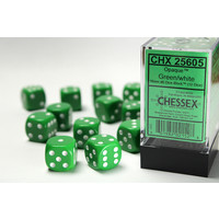 DICE SET 16mm OPAQUE GREEN