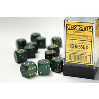 DICE SET 16mm OPAQUE DUSTY GREEN