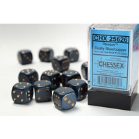 DICE SET 16mm OPAQUE DUSTY BLUE