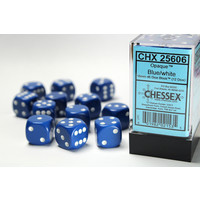 DICE SET 16mm OPAQUE BLUE