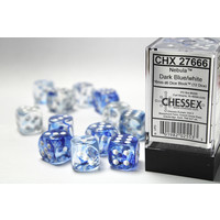 DICE SET 16mm NEBULA DARK BLUE