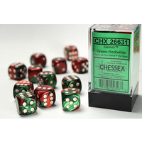 DICE SET 16mm GEMINI GREEN-RED