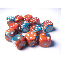DICE SET 16mm GEMINI COPPER-TEAL
