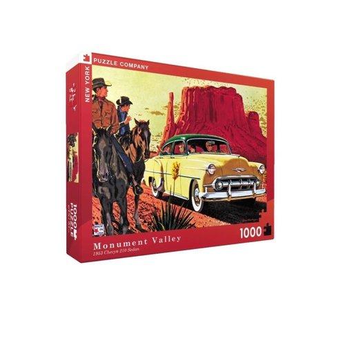 NEW YORK PUZZLE COMPANY NY1000 MONUMENT VALLEY 1953 CHEVY