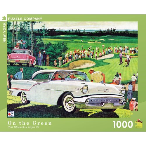 NEW YORK PUZZLE COMPANY NY1000 ON THE GREEN 1957 CHEVY BEL AIR