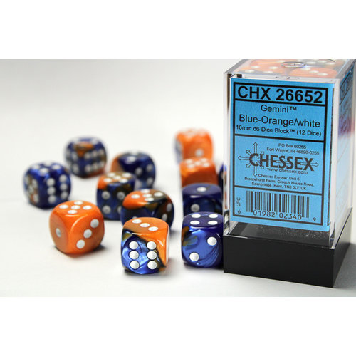 Chessex DICE SET 16mm GEMINI BLUE-ORANGE