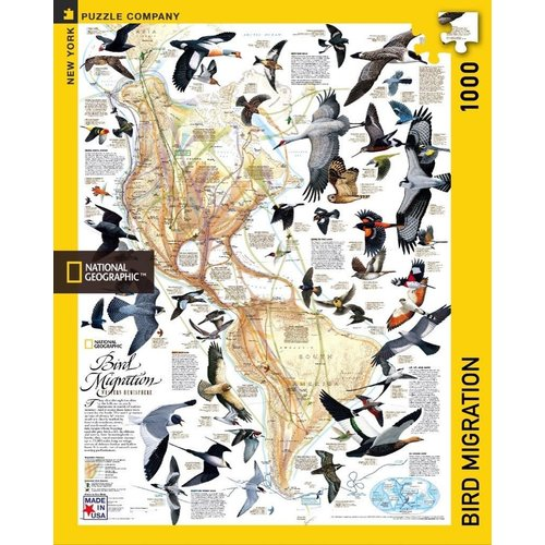 NEW YORK PUZZLE COMPANY NY1000 NATIONAL GEOGRAPHIC BIRD MIGRATION