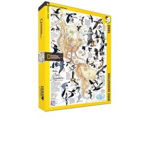 NEW YORK PUZZLE COMPANY NY1000 NATIONAL GEOGRAPHIC BIRD MIGRATION