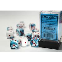 DICE SET 16mm: GEMINI - ASTRAL BLUE / WHITE