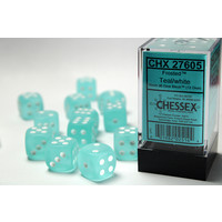 DICE SET 16mm FROSTED TEAL