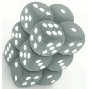Chessex DICE SET 16mm FROSTED SMOKE