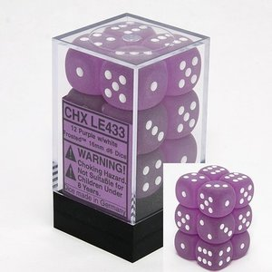 Chessex DICE SET 16mm FROSTED PURPLE