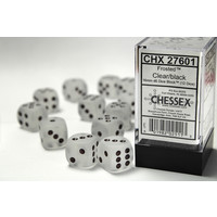 DICE SET 16mm FROSTED CLEAR