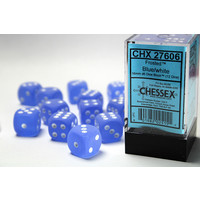 DICE SET 16mm FROSTED BLUE