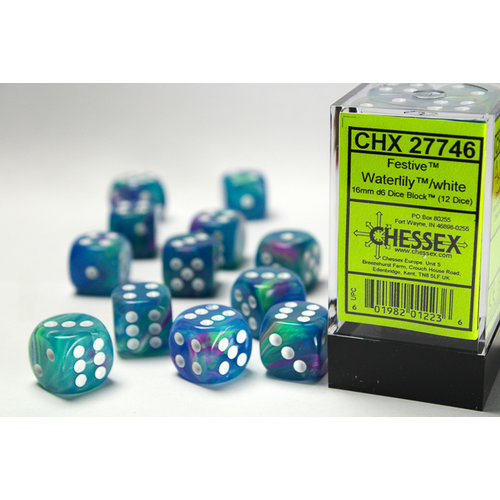 Chessex DICE SET 16mm FESTIVE WATERLILY