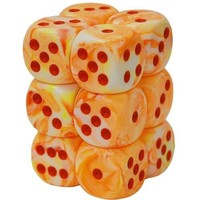 DICE SET 16mm FESTIVE SUNBURST